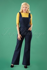 40s Everly Jumpsuit in Denim
