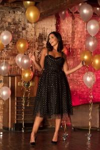50s Emily Prom Dress in Black