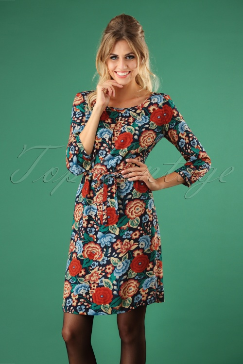 King Louie 70s Floral Billie Dress  100 39 25231 20180807 1W