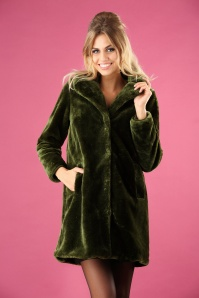 70s Alba Zoot Coat in Oasis Green