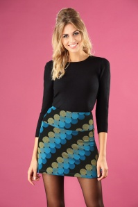 70s Discotheque Mini Borderskirt in Black