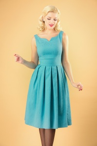 Lindy Bop 60s Marianne Teal Lace Dress 102 32 26805 20180801 02