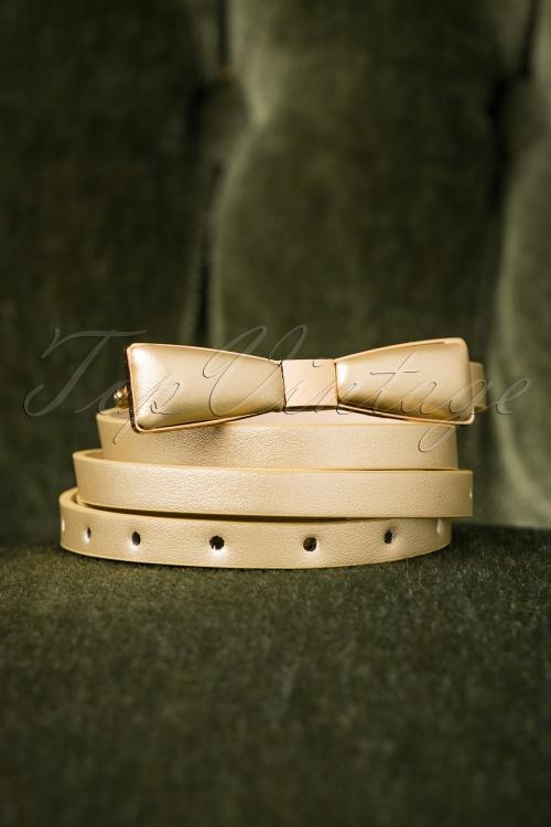 Tatyana 60s Bow Belt in Gold 212 91 27617 09052018 005W