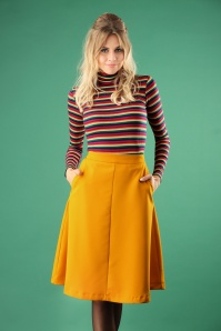 60s Sue Plate Skirt in Mustard