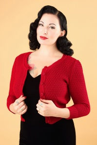 Mak Sweater 50s Jennie Cardigan in Red