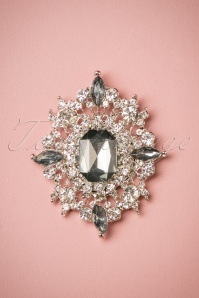 50s Diamond Explosion Brooch in Grey