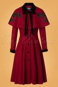 Collectif Clothing Claudia Roses Coat and Cape 25626 20180704 0008W
