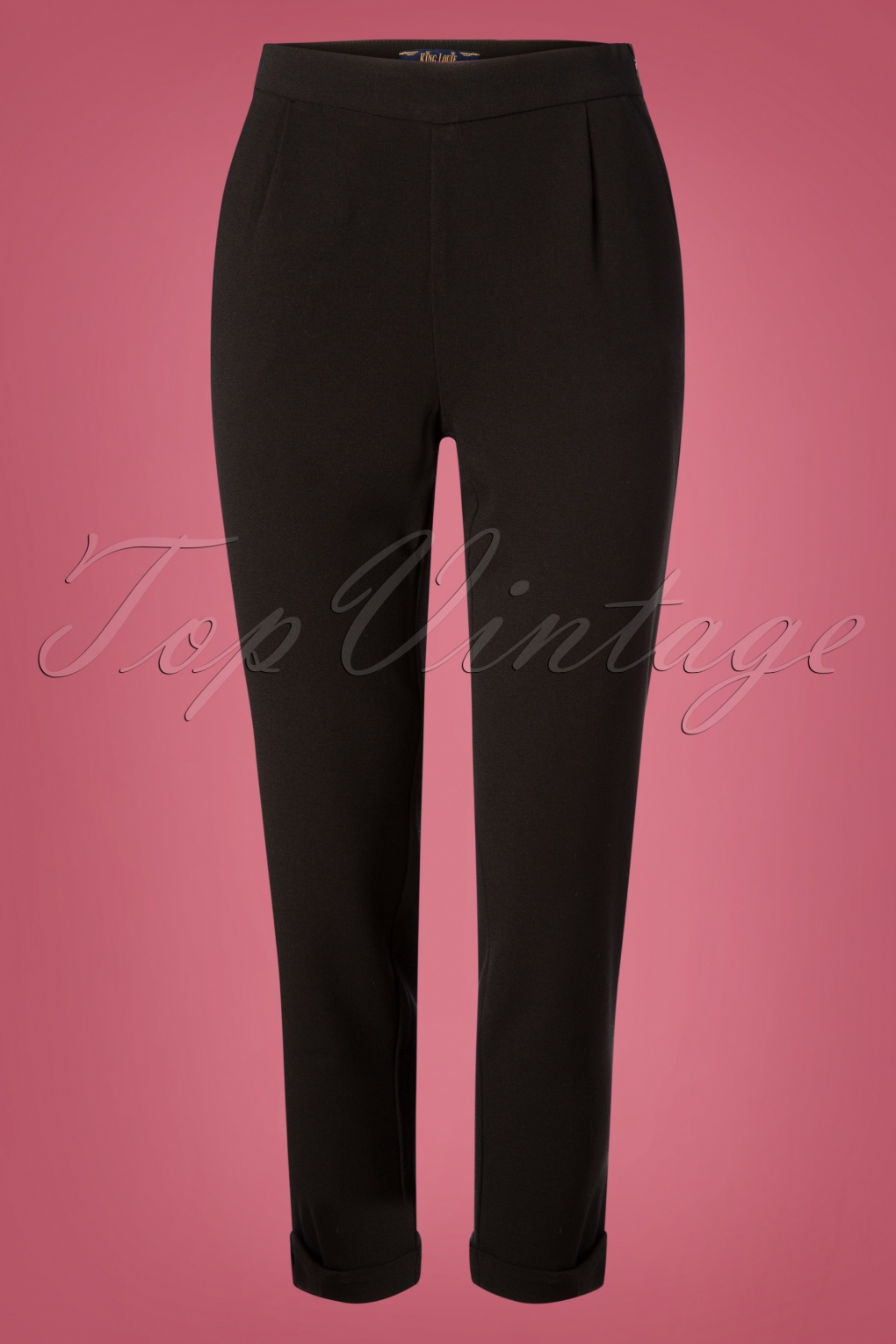 1950s Pants & Jeans- High Waist, Wide Leg, Capri, Pedal Pushers 50s Roisin Woven Crepe Pants in Black £70.25 AT vintagedancer.com