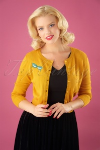 Collectif Clothing 50s Jessie Geek Cardigan 140 80 24796 20180626 0008W