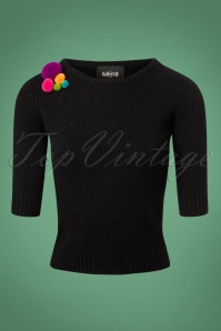 Collectif Clothing 50s Lalla Pom Pom Jumper 113 10 24789 20180626 0001W