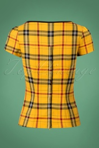 Collectif Clothing 50s Mimi Clueless Check Top Yellow 11 89 24851 20180626 0006W