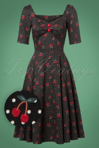Collectif Clothing Dolores Cherry Polkadot Swing Dress 24811 20180627 0013W1