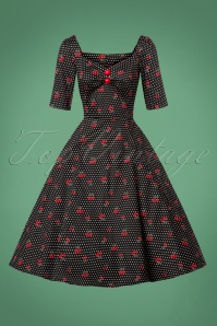 Collectif Clothing Dolores Cherry Polkadot Swing Dress 24811 20180627 0007W