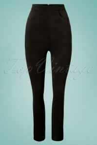 Collectif Clothing Tali Plain Cigarette Trousers 131 10 24882 20180629 0002W