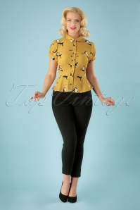 50s Tali Cigarette Trousers in Black