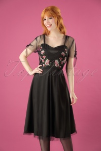 Vixen Zoe Black Floral Dress 102 10 25012 20180907 01W