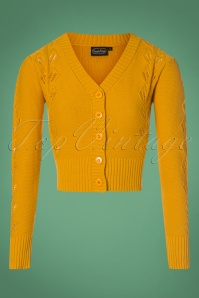 40s Julia Cardigan in Mustard