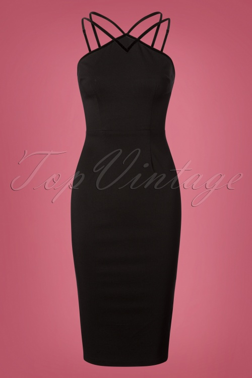 Collectif Clothing Alex Pencil Dress in Black 24900 20180628 0002 1W