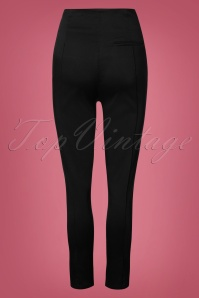 Collectif Clothing Bonnie Plain Trousers in Black 27501 20180628 006W