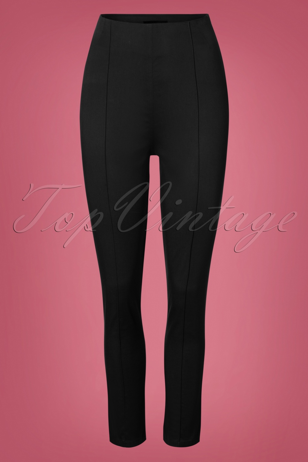 1950s Pants & Jeans- High Waist, Wide Leg, Capri, Pedal Pushers 50s Bonnie Trousers in Black £42.13 AT vintagedancer.com
