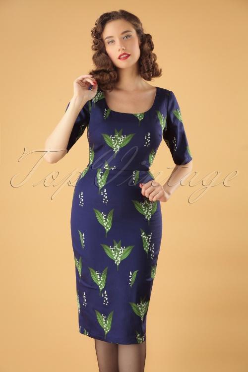 Collectif Clothing Amber Le Muguet Pencil Dress 24899 20180627 0011MW