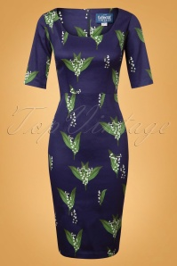 Collectif Clothing Amber Le Muguet Pencil Dress 24899 20180627 0005W