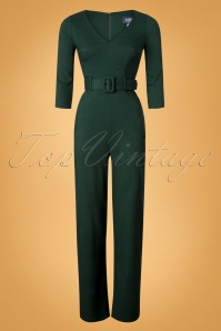 Collectif Clothing 40s Jessi Jumpsuit in Green 24804 20180629 0005W
