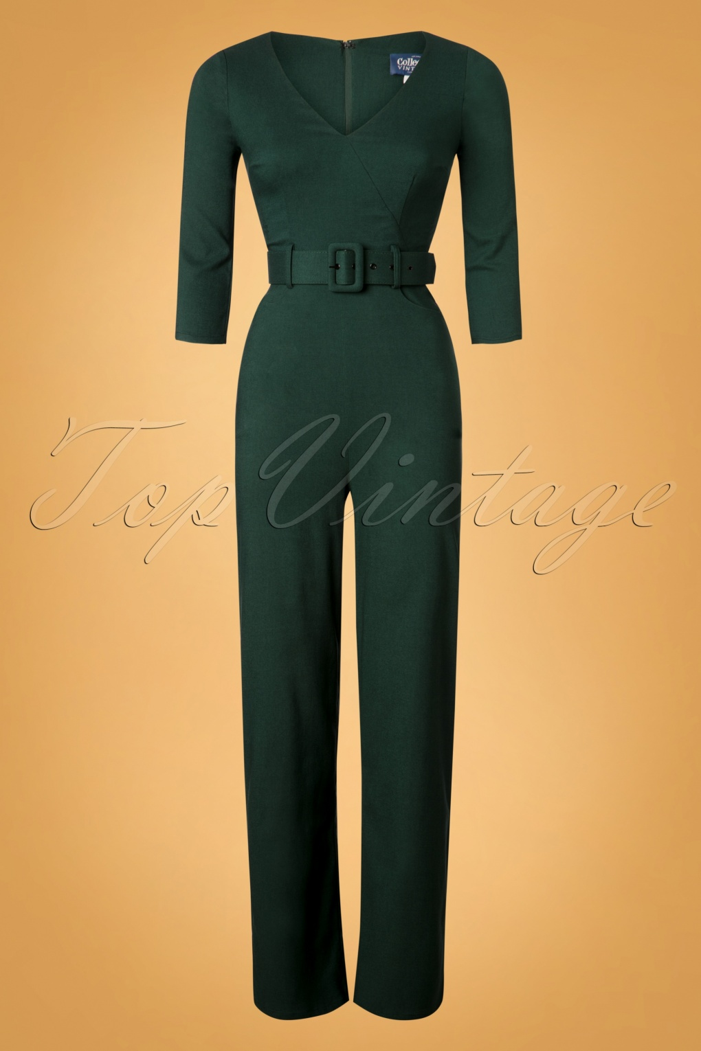 Vintage Overalls 1910s -1950s Pictures and History 40s Jessi Jumpsuit in Green £61.67 AT vintagedancer.com