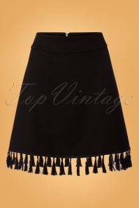 60s The Getaway Skirt in Black