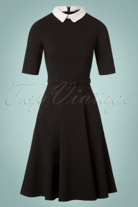 Collectif Clothing Winona Swing Dress in Black 24819 20180702 0002W