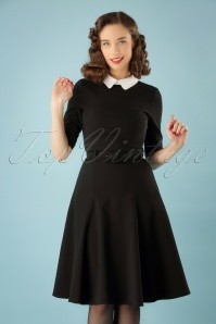 50s Winona Swing Dress in Black