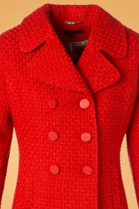 King Louie Lorelai Coat in Red 152 20 25292 20180911 0004V