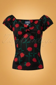 Collectif Clothing Dolores Rose Stem Top 110 14 24867 20180629 0003W
