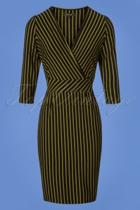 King Louie Cross Tulip Dress Marquee Striped 25310 20180802 0003W