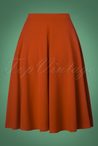 Vintage Chic 50s Sheila Swing Skirt in Cinnamon 122 21 26709 20180911 0009W