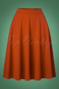 Vintage Chic 50s Sheila Swing Skirt in Cinnamon 122 21 26709 20180911 0003W