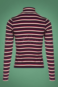 Vintage Chic Stripe Turtle Neck Shirt 113 27 26940 20180829 0003W