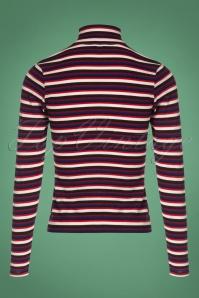 Vintage Chic Stripe Turtle Neck Shirt 113 27 26940 20180829 0003W