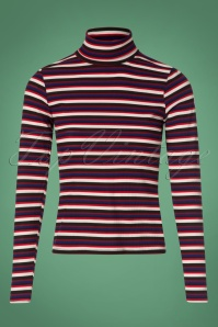 Vintage Chic Stripe Turtle Neck Shirt 113 27 26940 20180829 0001W