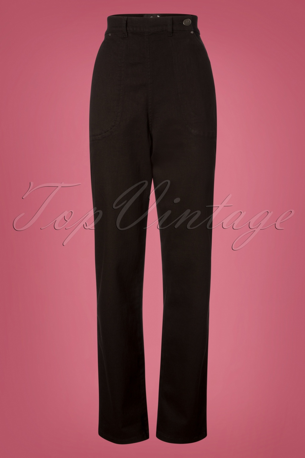 Vintage High Waisted Trousers, Sailor Pants, Jeans 50s Weston Jeans in Black £39.23 AT vintagedancer.com