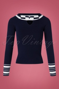 Bunny Blue Bow Sailor Top 113 31 25890 20180912 0001W