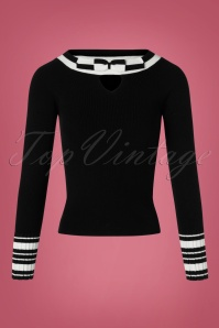 Bunny Black Bow Sailor Top 113 31 25889 20180912 0001W