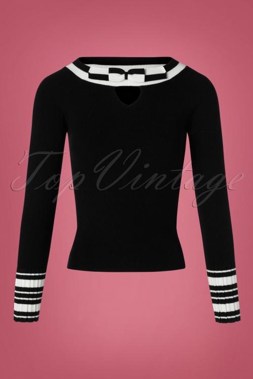 Bunny Black Bow Sailor Top 113 31 25889 20180912 0001W