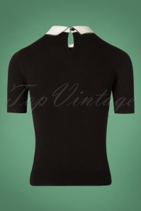 Bunny Bow Collar Top in Black 110 10 25892 20180912 0005W