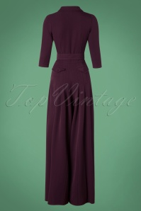 Miss Candyfloss TopVintage Exclusive Plain Color Purple Jumpsuit 133 60 26294 20180912 0010W