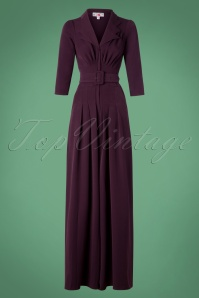 Miss Candyfloss TopVintage Exclusive Plain Color Purple Jumpsuit 133 60 26294 20180912 0003W