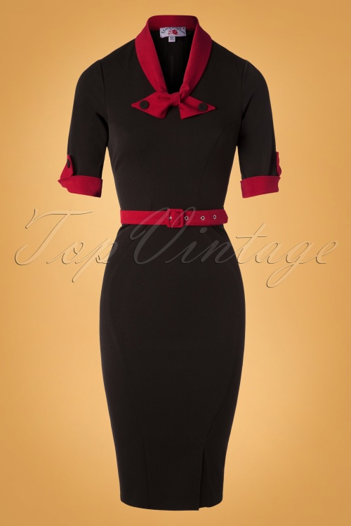 Miss Candyfloss Black Pencil Dress 100 10 26300 20180912 0003W