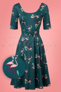 Collectif Clothing June Flamingo Swing Dress 24816 20180627 0009W1