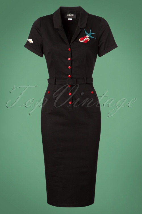 Collectif Clothing Catherina True Love Pencil Dress 24889 20180628 0001W