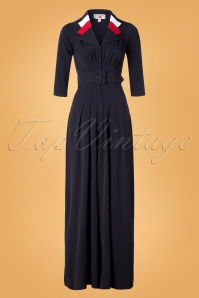 40s Fatoumata Lee Jumpsuit in Navy